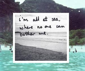 sea, quotes, and beach image