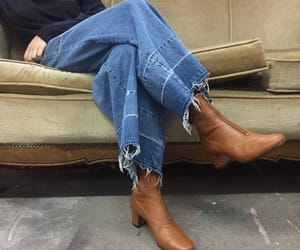 boots, fall, and denim image