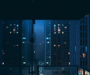 blue, aesthetic, and night image