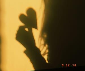heart, huji, and shadow image