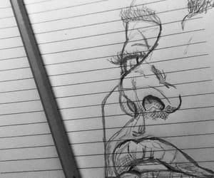 artistic, blackandwhite, and draw image