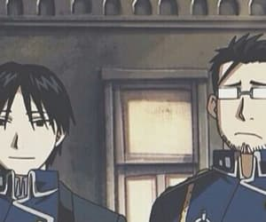 fullmetal alchemist, roy mustang, and maes hughes image