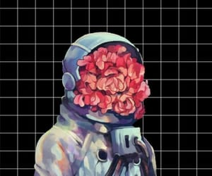 flowers, space, and art image