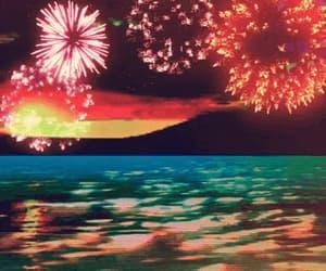 art, fantastic, and fireworks image