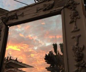 orange, sky, and sunset image