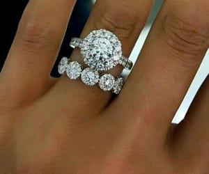 engagement, ring, and wedding image