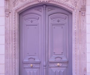 purple, door, and pink image