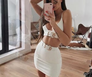 fashion, outfit, and white outfit image