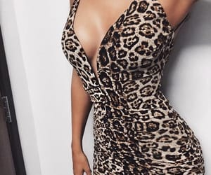animal, dress, and leopard image