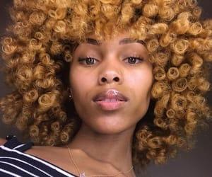 curly hair, girl, and melanin image