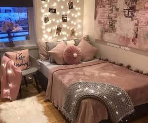 Pink room with lights