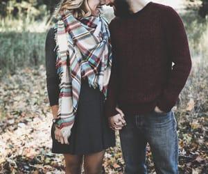 couple, autumn, and fall image