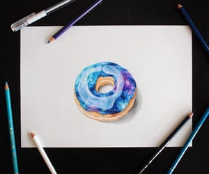 donut, art, and drawing image