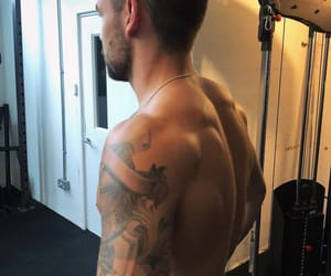 body, Tattoos, and handsome image