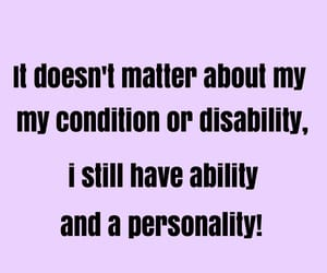 quote, disability, and disabled image