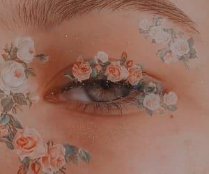 aesthetic, flowers, and eyes image