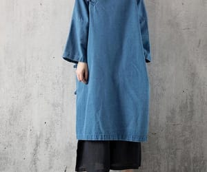 long sleeve, oversized, and spring dress image