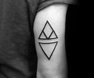 tattoo, Tattoos, and triangle image