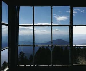 window, sky, and nature image