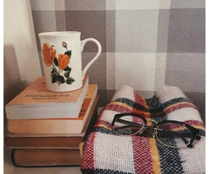 autumn, books, and vintage image
