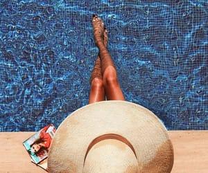 bikini, girls, and pool image