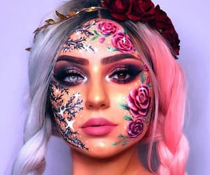 beauty, fantasy, and makeup image