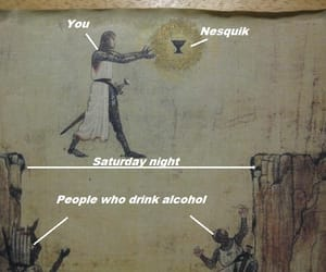 alcohol, saturday night, and knight image