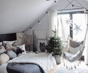 room, bed, and home image