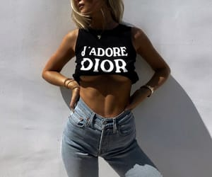 blonde, dior, and style image