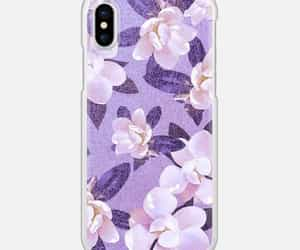 Collage, purple, and floral image
