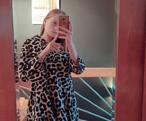 blonde, dress, and leopard image