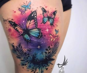 tattoo, butterfly, and tatto image