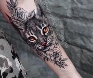 cat, ink, and tatto image