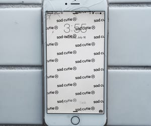 iphone and sad cutie image