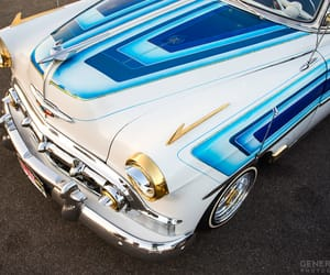 cars, white and blue, and lowriders image