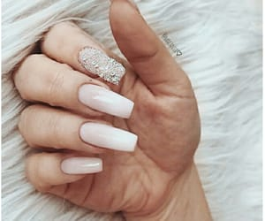 glitter, long nails, and soft image