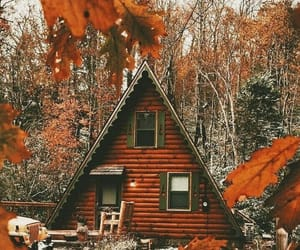 autumn, house, and leaves image