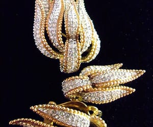 etsy, gold plating, and clear rhinestones image