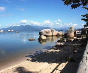beach, brazil, and florianopolis image