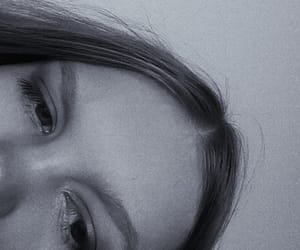 blackandwhite, eyebrows, and freckles image