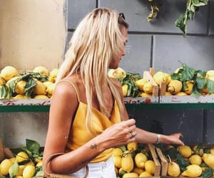 girl, summer, and yellow image