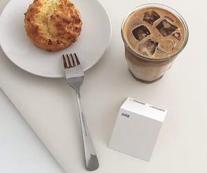 bread, drinks, and minimalist image