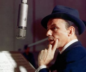 frank sinatra and vintage image