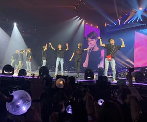 front row, jin, and bts image