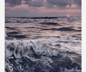 nature, ocean, and waves image