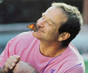 robin williams, butterfly, and rip image