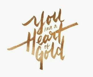 quotes, gold, and heart image
