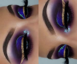 eyebrows, lashes, and violet image