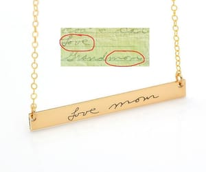 etsy, custom necklace, and gold necklace image