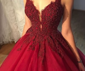 dress, pretty, and red image